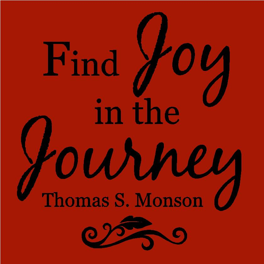 Find joy in the journey color