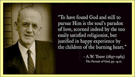 A W Tozer - Quote