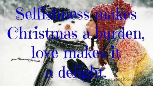 Christmas a burden