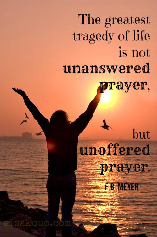 Unoffered prayer