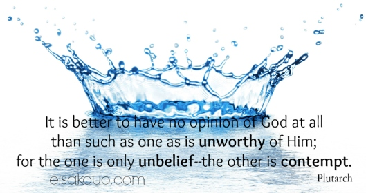 No Opinion of God