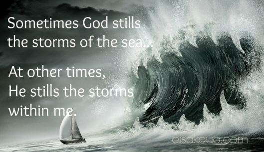 still the storm within me