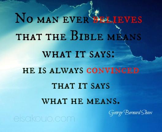 Man believes