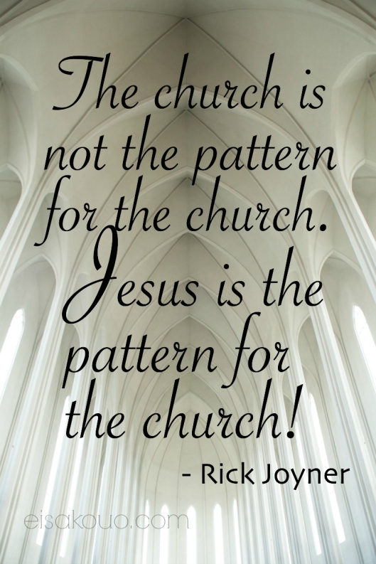 Jesus is the pattern