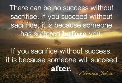 Sacrifice and Success